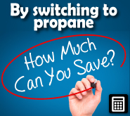 Cost Calculator for comparing propane to other fuels